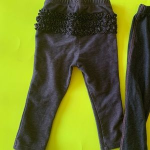Old Navy stretchy denim look pants. Ruffle on back